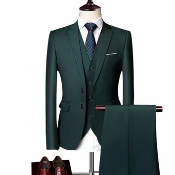 Three Piece Formal Business Men's Suits