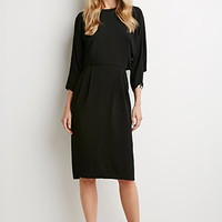 Contemporary Batwing-Sleeved Dress