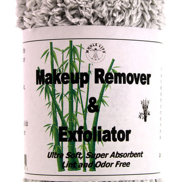 Makeup Remover and Exfoliator Bamboo Charcoal Cloth (1) Large