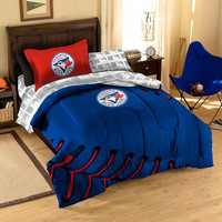 Toronto Blue Jays MLB Bed in a Bag (Contrast Series)(Twin)