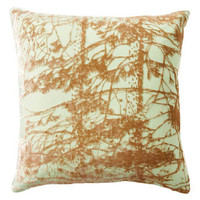 Pine 16x16 Silk-Blended Pillow, Mint, Decorative Pillows