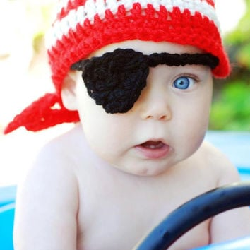 Pirate Kerchief Beanie Crochet Hat Pattern (378)