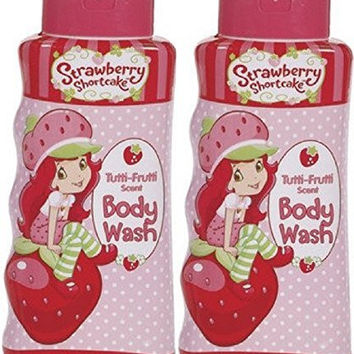 (2 PACK) Strawberry Shortcake Body Wash - Tutti Frutti scent- 12 oz