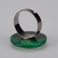 Ring with cow horn