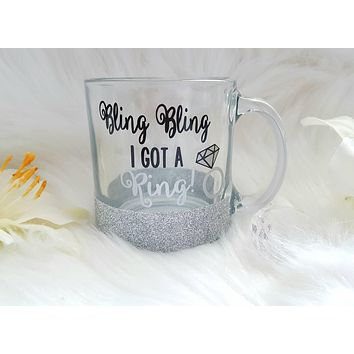 Engagement Glass Coffee Mug