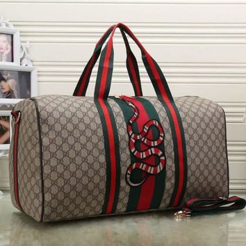 a801c687ef8 Gucci Women Fashion Leather Embroidery Luggage Travel Bags Tote