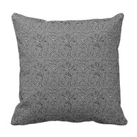 Modern Intricate Optical Pattern Throw Pillow