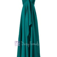 Rich Teal Maternity Bridesmaid Dress Halter Long Evening Party Dress(BM892L)