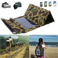 ELEGIANT 7W Solar Panel Source Power Charger For iPhone6 Smartphone Device