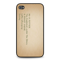 Harry Potter Address iPhone 4 | 4S case