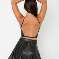 Petra Leather Crop Top