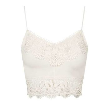 TALL Crotchet Trim Bralet - New In This Week - New In