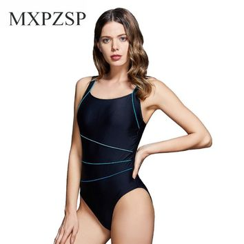 Swimsuit Womens Bathing Suit One Piece Swimsuit Chlorine Resistant Athletic Sports Training Exercise Push Up Swimwear Bather XL
