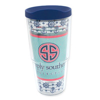 24oz Simply Southern Ocean Whale Tervis Tumbler