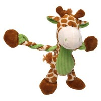 Charming Pet Products Pulleez Giraffe/Zebra Soft Pet Toy