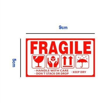 Wholesale and retail 100pcs/lot 9x5cm fragile sticker Up and handle with care keep dry shipping labels