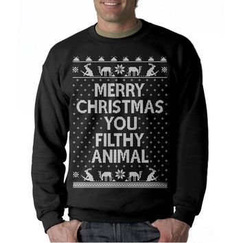 Men Merry Christmas Long Sleeve Cotton Tee