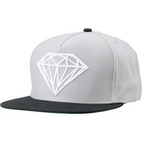 Diamond Supply Brilliant Black & Grey Snapback Hat
