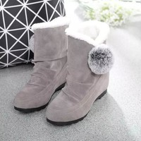 Hot Deal On Sale Shoes Matte Winter Height Increase Boots [9257225164]