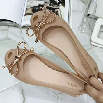 Melissa 2018 new female trendy brand jelly shoes F-ALXY apricot