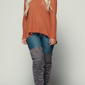 All Over Again Knitted Top (Rust)