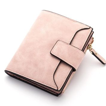 Baellerry Luxury Brand Short Womens Wallet Leather Trifold Wallet Women Coin Purse Candy Ladies Purse Card Holder Wallet W105