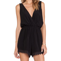 Tularosa Everly Romper in Black