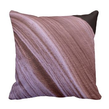 Southwest Sandstone Swirl Canyon Photo Pillow