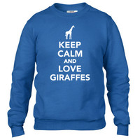 Keep calm and love Giraffes Crewneck sweatshirt