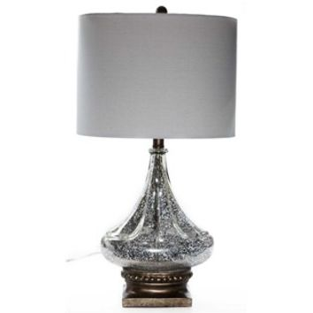 Mercury Glass Genie Lamp with Beige Shade | Shop Hobby Lobby