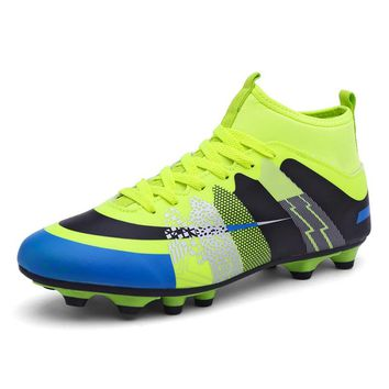 Soccer Cleats Superfly High Ankles 2018 Kids Football Boots Boy AG Sports Shoes Original Cheap Outdoor Sneakers China Sale