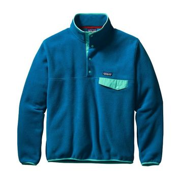 Patagonia Men's Lightweight Synchilla® Snap-T® Pullover | Bandana Blue