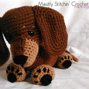 Dash the Dachshund Pup; CROCHET PATTERN; PDF