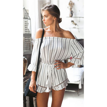 Black and white stripes strapless [10118050893]