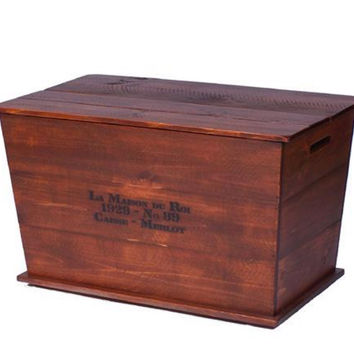 Wine Barrel Vineyard Chest Coffee Table