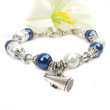 Pearl Cheerleader Bracelet- Customize colors to your team.