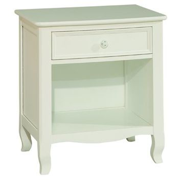 Bolton Emma 1 Drawer Nightstand White