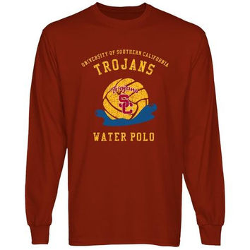 USC Trojans Sport Club Long Sleeve T-Shirt - Cardinal