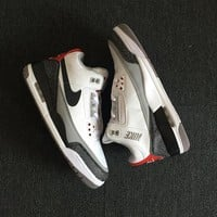 Air Jordan 3 Retro Tinker NRG White/Fire Red/Cement Grey-Black AJ3 Sneakers - Best Deal Online
