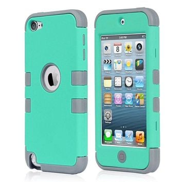 For Apple iPhone 5&5S&SEHybird Shockproof Rugged Gel PC Hard Case Cover Skin for Apple iPhone 5C iPod Touch 5 6th Generation