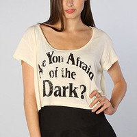 The Darkness Crop Top in Creme