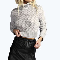 Julia Chunky Stitch Roll Neck Soft Knit Jumper