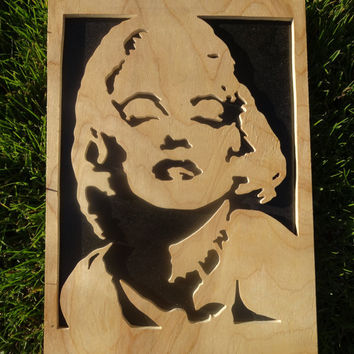 Wooden Marilyn Monroe Portrait