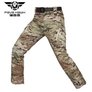 IX9 Men Tactical Pants Military Trainning Male Combat Camouflage Multi-Pockets Straight Stretch Breathable Comfort Full Trousers