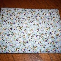1 3/4 Yards x 43 Wide Floral Print Rayon Fabric Make Doll Clothes Girl's Dress
