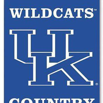 Kentucky Wildcats COUNTRY 2-sided Garden Window Flag Banner University of