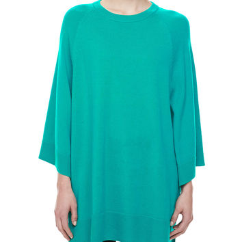 Women's Cashmere Scoop-Neck Poncho, Sky - Michael Kors - Sky (MEDIUM)