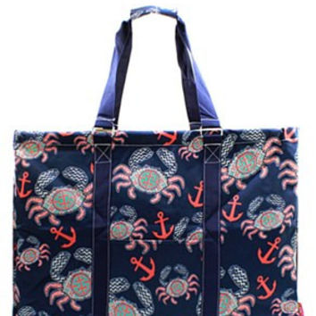 Utility Tote Extra Large - Crab Print