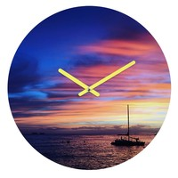 Deb Haugen Come Sail Away Round Clock