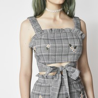 Bad Intentions Plaid Top